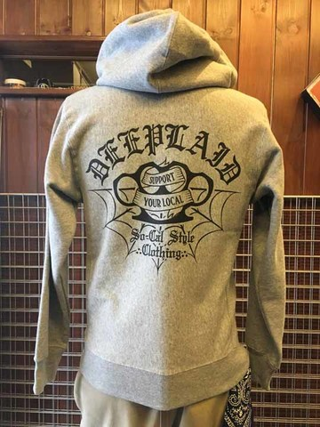DEEPLAID CLOTHING KNUCKLE ZIP HOOD ディープレイド/8,800円