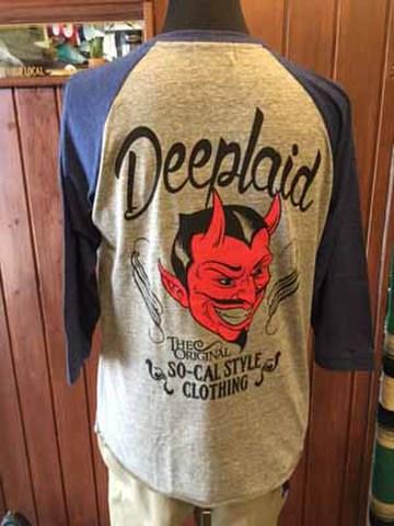 DEEPLAID CLOTHING DEVIL 3/4 SLEEVE TEE ディープレイド/5,800円