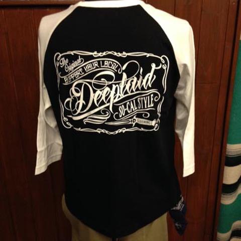 DEEPLAID CLOTHING SCRIPT SIGN 3/4 SLEEVE TEE ディープレイド/4,800円