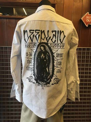 DEEPLAID CLOTHING MARIA STRIPE L/S WORK SHIRTS ディープレイド/8,800円