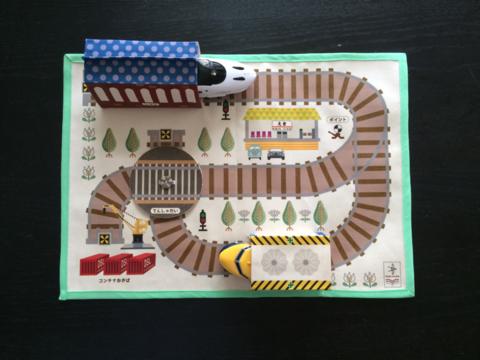 折りたためる3Dおでかけおもちゃ(プラレール対応版)