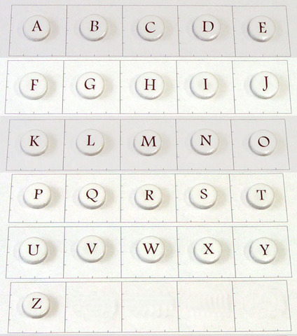 19mm丸文字タイル アルファベット大文字