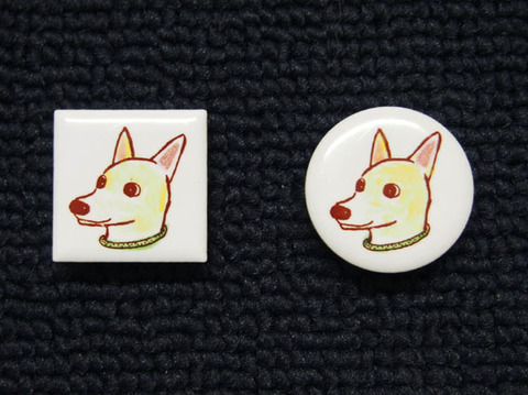 手描きモザイクタイル 犬2