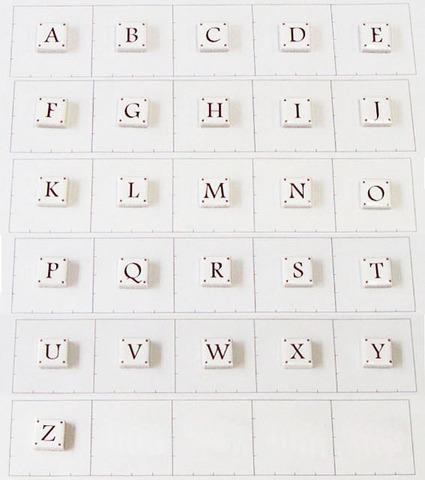 15mm角文字タイル アルファベット大文字