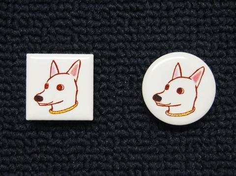 手描きモザイクタイル 犬3