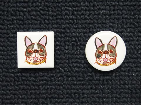 手描きモザイクタイル 犬8