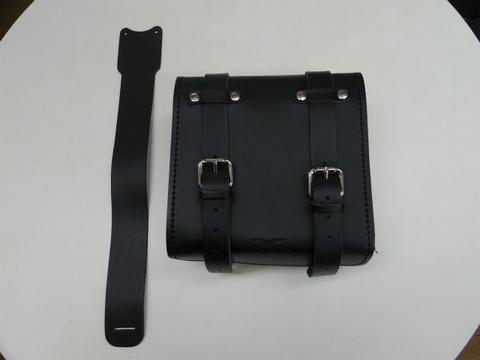 モトグッチV7用レザーツールバッグ【ブラック】