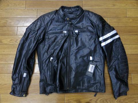 モトグッツィ・レザージャケット男性用・ブラック(Lサイズ)