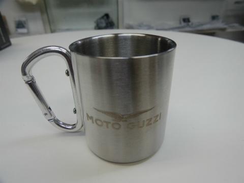 moto guzzi・アルミ製マグカップ【シルバー】