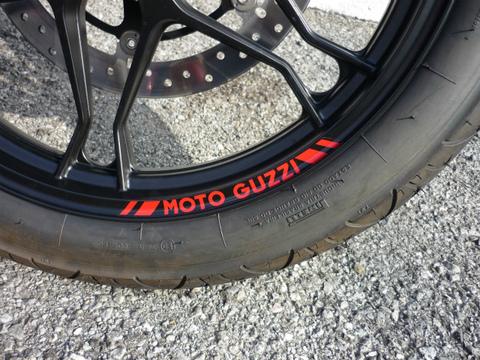 motoguzzi・ホイールデカール,赤【V7Racer】