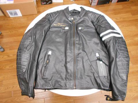 モトグッツィ・レザージャケット男性用・ブラック(XLサイズ)
