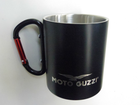 moto guzzi・アルミ製マグカップ【ブラック】