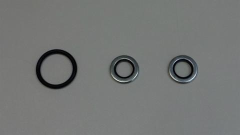 V7用ファイナルギアドレーンガスケット2個、Oリング、セット