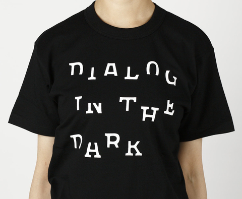 DIALOG IN THE DARK Tシャツ (黒×白)