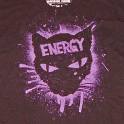 ENERGY spraypainted cat