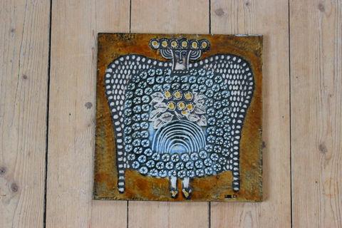 Lisa Larson(リサラーソン)/UNIK/ Dam 婦人の陶板