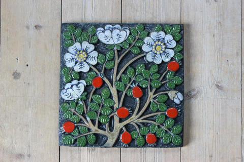 Lisa Larson(リサラーソン)/POMONA(ポモナ)/Nypon(ローズヒップ)の陶板