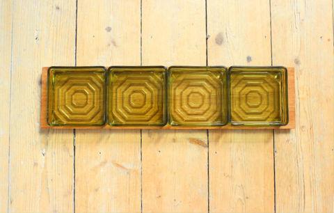 チークとスモークガラスのオードブルトレイ(L)