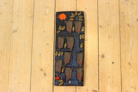 Jie Gantofta(ジィ・ガントフタ)AIMOデザインの小鳥の陶板
