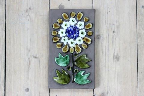 Jie Gantofta(ジィ・ガントフタ)黄色いお花の陶板(S)