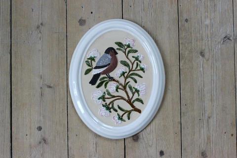 GABRIEL(ガブリエル)お花と鳥の陶板(M)