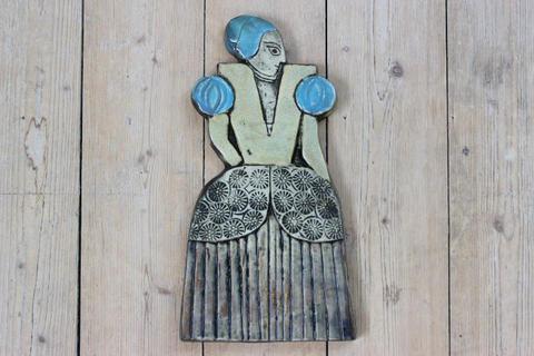 Lisa Larson(リサラーソン)Drabant(ドラバント/近衛兵)3 婦人の陶板