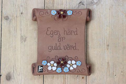 Jie Gantofta(ジィ・ガントフタ)スウェーデン語の陶板 羊皮紙(S)4