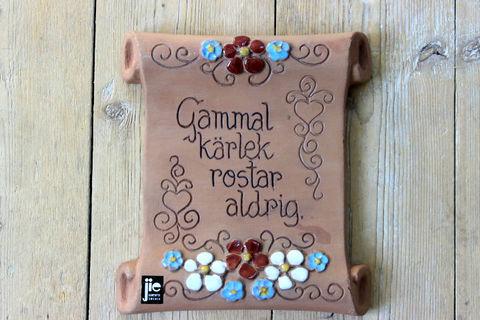 Jie Gantofta(ジィ・ガントフタ)スウェーデン語の陶板 羊皮紙(S)1