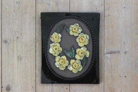 Jie Gantofta(ジィ・ガントフタ)黄色いお花の陶板(M)