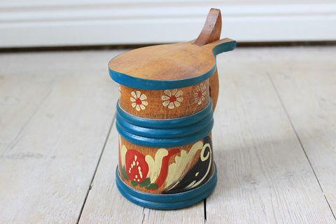 木製のビアマグ(蓋付き・大)