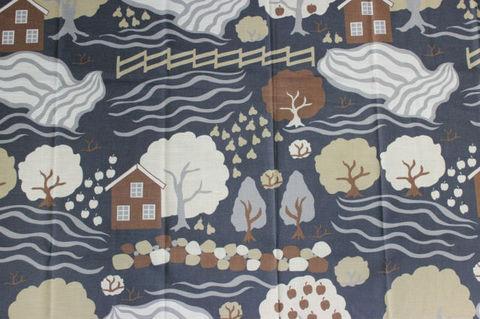 スウェーデンで出会った北欧の景色のヴィンテージファブリック(120×155cm)