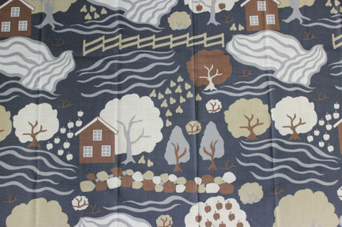 SVANEFORS(スヴァンフォース)/北欧の景色のヴィンテージファブリック(120×155cm)