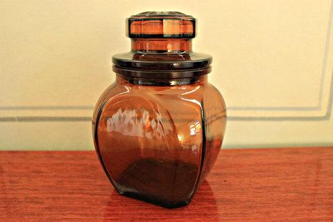 ガラスのメディシンボトル(Brown)