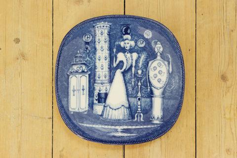 Rorstrand(ロールストランド)250周年記念プレートAdertonhundratalet(19世紀)箱付き