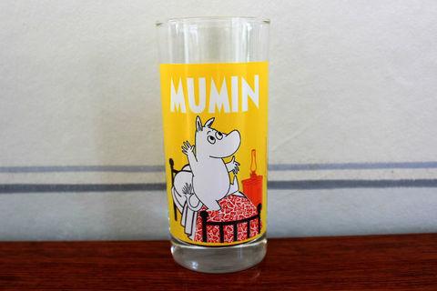 MUMIN(ムーミン)×MAX(マックス)ダブルネームのムーミン生誕70周年記念グラス(黄色)