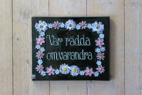 Jie Gantofta(ジィ・ガントフタ)スウェーデン語の陶板/グリーン(M)
