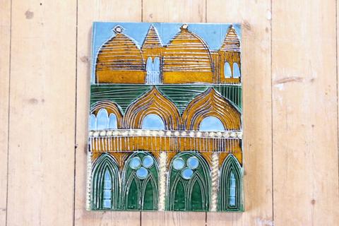 Lisa Larson(リサラーソン)/Vaggplattor  Venedig (ベネチア/ヴェニス)の陶板