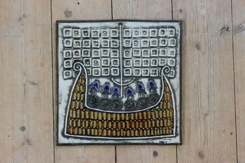 Lisa Larson(リサラーソン)/UNIK/Skepp 海賊船の陶板