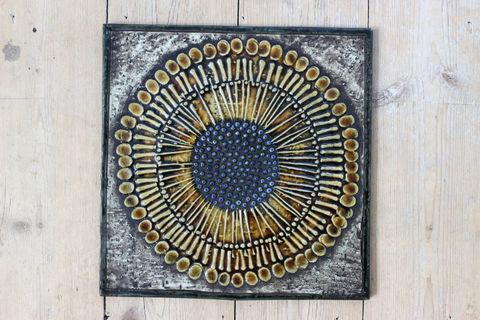 Lisa Larson(リサラーソン)/UNIK/Solros ひまわりの陶板2