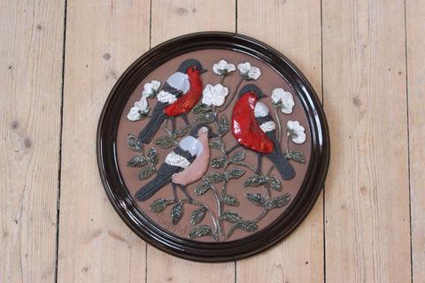 GABRIEL(ガブリエル)お花と鳥の陶板(XL)