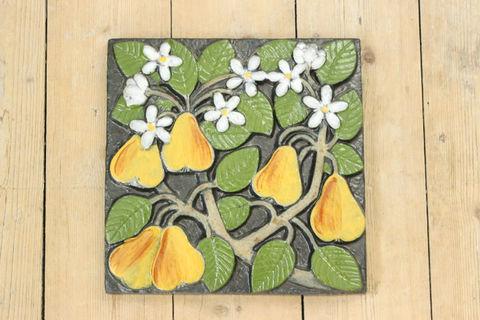 Lisa Larson(リサラーソン)/POMONA(ポモナ)/Paron(洋ナシ)の陶板