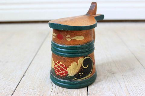 木製のビアマグ(蓋付き・小)