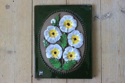 Jie Gantofta(ジィ・ガントフタ)AIMO白いお花の陶板(M)