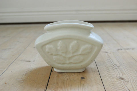 Rorstrand(ロールストランド)/オークリーフの花器/花瓶 ホワイト(アトリエ作品)