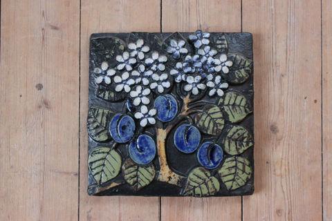 Lisa Larson(リサラーソン)/POMONA(ポモナ)/Plommon(プラム)の陶板