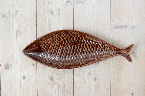 GUSTAVSBERG(グスタフスベリ)Stig Lindgerg/Fladen お魚プレート(ブラウン)2
