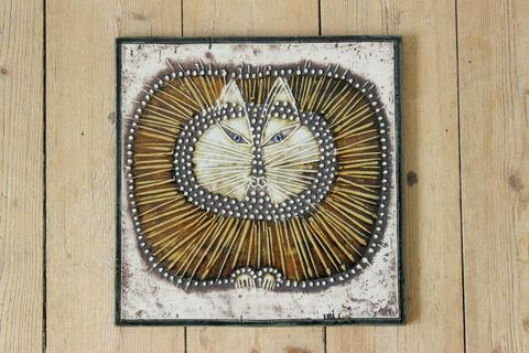 Lisa Larson(リサラーソン)/UNIK/Kat 丸ネコの陶板