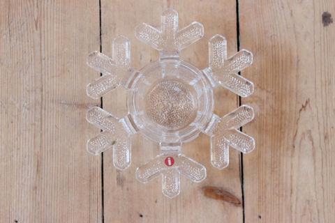 Iittala(イッタラ)/Snow Crystal(スノークリスタル、雪の結晶)のキャンドルホルダー
