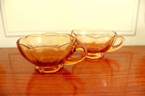 ガラスのカップ2客セット(Amber)