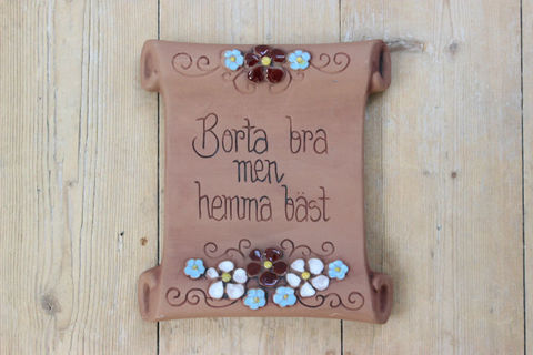 Jie Gantofta(ジィ・ガントフタ)スウェーデン語の陶板 羊皮紙(S)2
